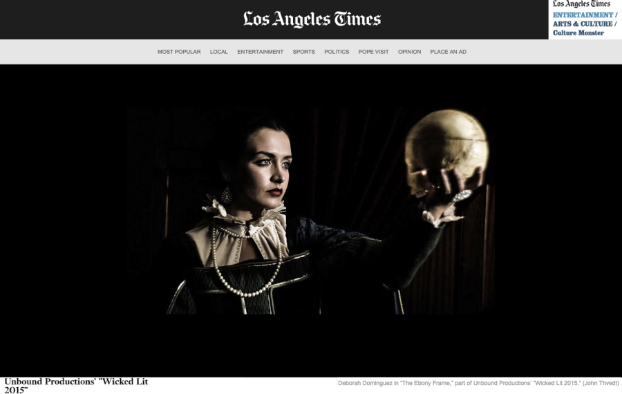 LA TIMES ENTERTAINMENT - WICKED LIT 2015 - DEBORAH DOMINGUEZ